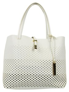 Vince Camuto Saffiano Leather Tote in White