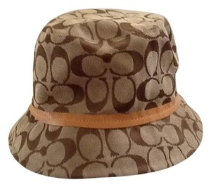 Coach COACH Signature Logo Bucket Hat