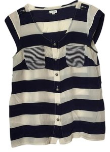 Anthropologie Top Navy