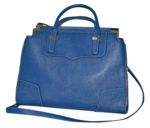Rebecca Minkoff Navy Saffiano Leather Satchel in NAVY blue
