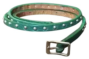 Streets Ahead Skinny Studded Leather Belt