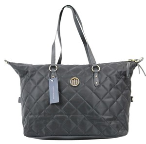 Tommy Hilfiger Nylon Quilted Tote in Black