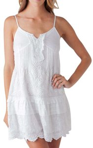 JOE'S Jeans short dress White Ruffle Embroidered Boho Bohemian on Tradesy