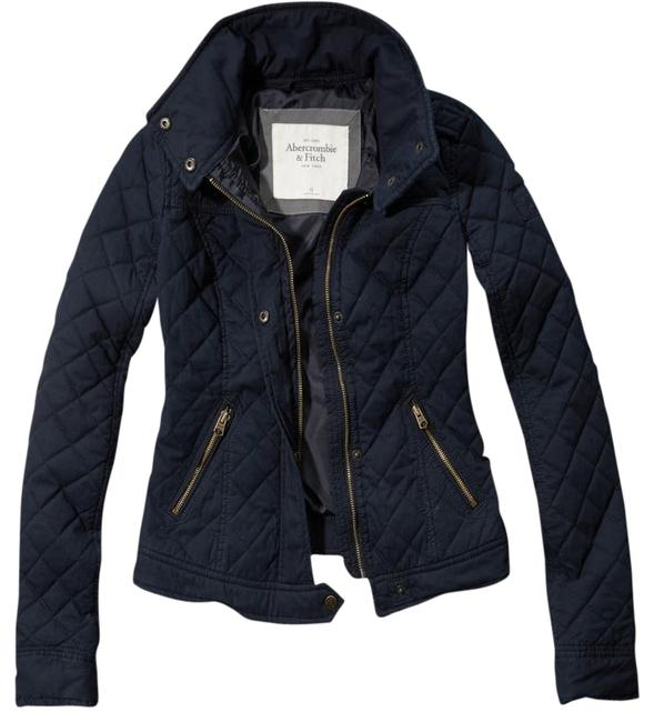 Item - Navy Blue Elsie Quilted Jacket In Coat Size 4 (S)