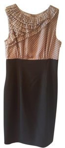 Anne Klein Conservative Ruffles Pencil Polka Dot Comfortable Dress