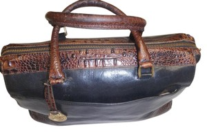 Brahmin Vintage Satchel in Black/brown