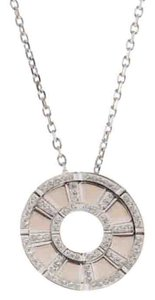 Piaget Piaget 18K White Gold Diamond Rotating Disk Pendant Necklace E62668
