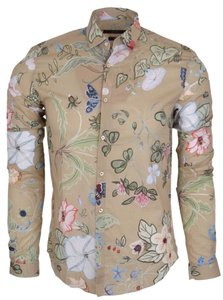 Gucci Men's Shirt Dress Shirt Men's Dress Shirt Shirt Button Down Shirt Multi-color