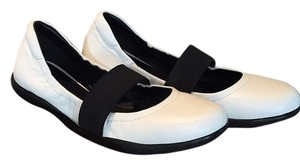 Prada White and Black Flats