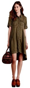 Anthropologie short dress Green Army on Tradesy