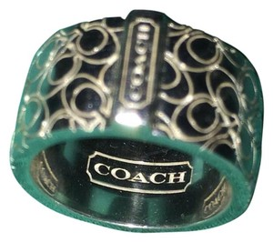 Coach COACH STERLING SILVER RING - SIZE 5
