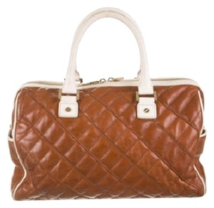 Tory Burch Leather Tote in Cognac