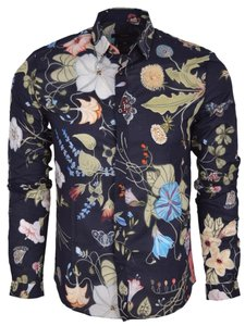 Gucci Men's Shirt Shirt Button Down Shirt Multi-Color