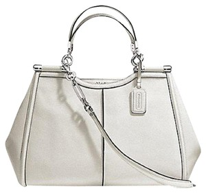 Coach Madison Satchel in White
