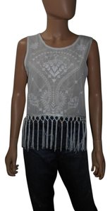 Haute Society Fringes Top White
