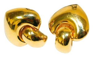 Mr & Mrs Italy Italain Gold Clip Earrings
