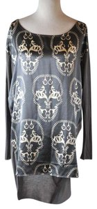 Thomas Wylde Silk Large Skull Print Tunic