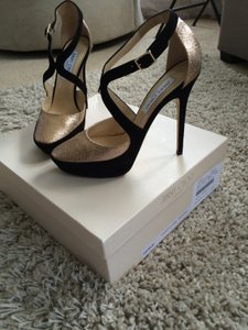 Jimmy Choo Black/ gold glitter Pumps