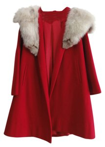 Wool Fur Collar Fur Coat