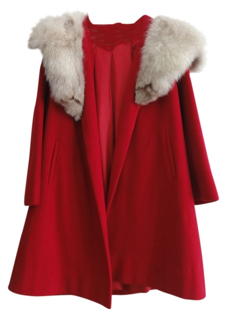 Other Wool Fur Red Swing Fur Coat
