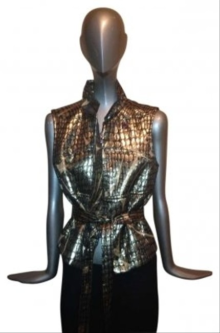 Preload https://item2.tradesy.com/images/emilio-pucci-metallic-vest-size-6-s-158951-0-0.jpg?width=400&height=650