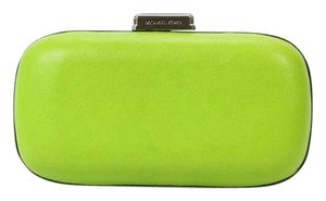 Michael Kors Leather Lime Green Clutch