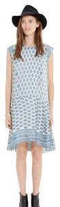 Madewell short dress White/Blue on Tradesy