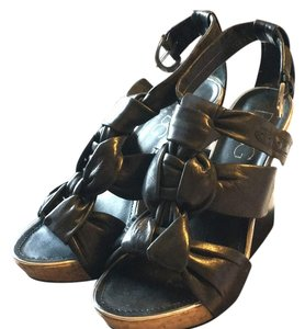 BCBG Paris Black Wedges