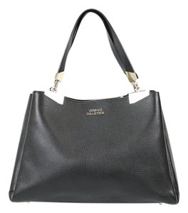 Versace Leather Tote in Black