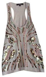Almost Famous Clothing Top Pale Peach with sequins