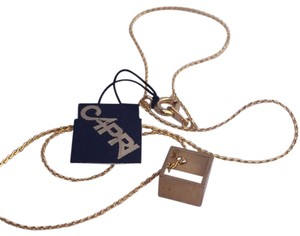 Other gold tone vintage cube necklace