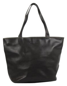 Hartmann Leather Contrast Stitching Tote in Black