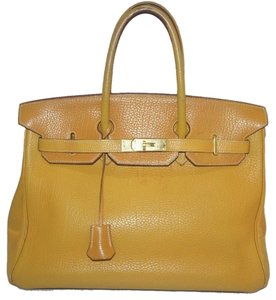 7009326e13 Hermès Birkin 35 Clochette Saffron Mustard Gold Laptop Everyday Hand Satchel  Business School Shoulder Bag