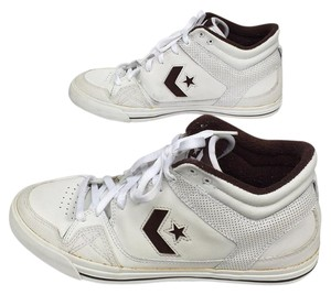 Converse White and brown Athletic