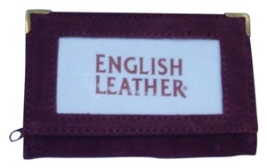 Handmade RN#91181 Maroon English Leather Credit Card Wallet or Picture Wallet