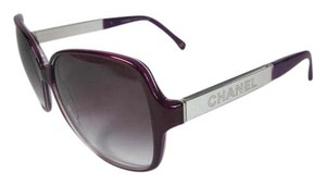 Chanel Purple & Mirrored Logo, Glam Sunglasses