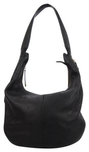 Halston Leather Hobo Bag