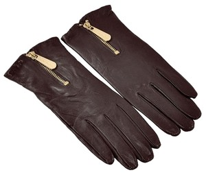 Michael Kors MICHAEL Michael Kors Leather with Zipper Gloves Size Large