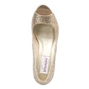 Dyeable Sari - Gold Glitter - Size 8.5 Wedding Formal Wedding Shoes