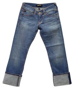 Serfontaine Made In U.s.a Capri/Cropped Denim-Medium Wash