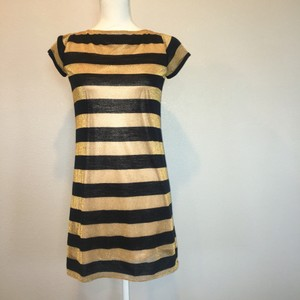 Laundry by Shelli Segal Metallic Striped Dress