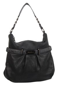 Kenneth Cole Leather Chain Of Command Hobo Bag