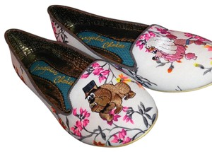 Irregular Choice Wedding Bride And Groom White / multi floral Flats