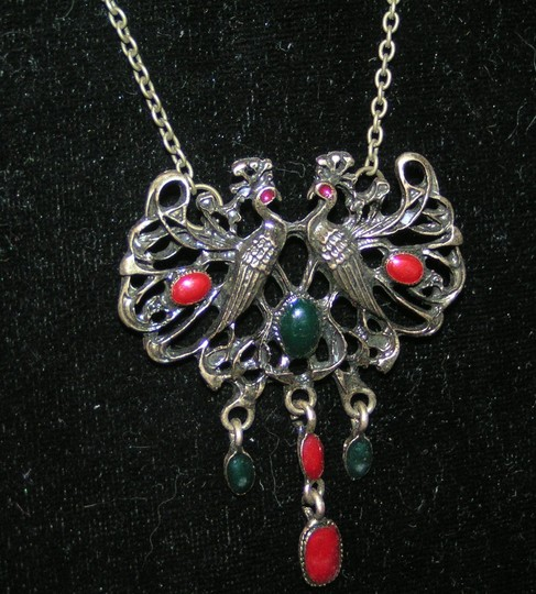 Bronze/Red/Green Bogo Free Antiqued Free Shipping Necklace Image 1