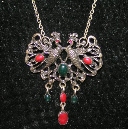 Bronze/Red/Green Bogo Free Antiqued Free Shipping Necklace