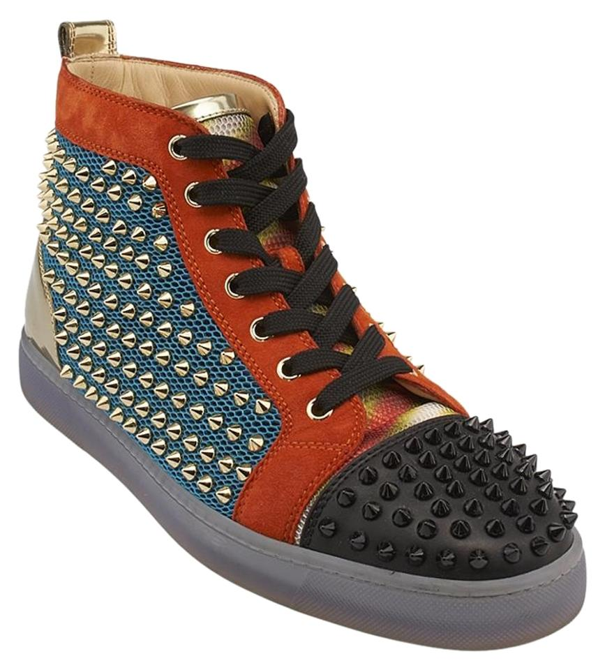 competitive price bd9eb 6b654 Christian Louboutin Multicolor Mens Louis Flat Techno Leather & Suede 42  (85527) Sneakers Size US 9