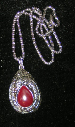 Silver/Red Bogo Free Tibet Free Shipping Necklace