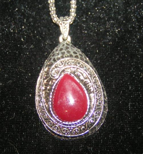 Silver/Red Bogo Free Tibet Free Shipping Necklace Image 3