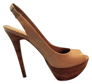 Jessica Simpson Heels Stiletto Platform Nude Pumps