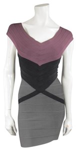 Hervé Leger Body Con Bandage Evening Fall Dress